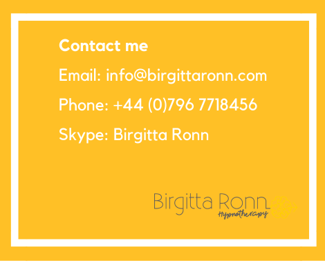To find out how Solution Focused Hypnotherapy can help you please contact me on_Email_ info@birgittaronn.comPhone_Text_ +44 (0)796 7718456